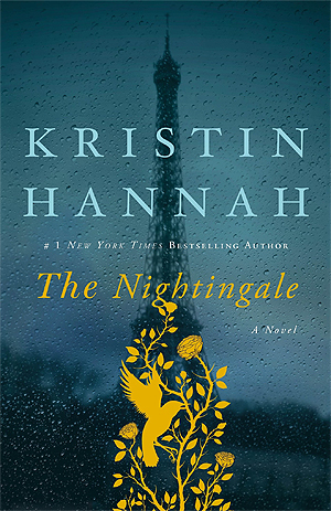 The Nightingale Kristin Hannah WWII Blue Book Cover